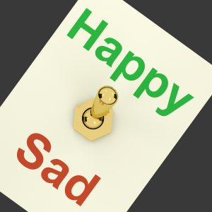 Wall switch set for happy or sad