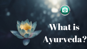 lotus with caption what is ayurveda