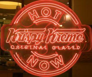krispy Kreme doughnut sign